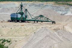 Amber open-cast mining in Yantarny Royalty Free Stock Photo