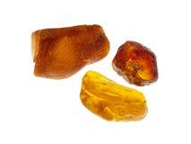 Amber. Origin: Poland. Precious Stones Collection, studio isolated photo Royalty Free Stock Image
