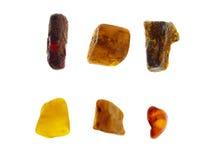 Amber. Origin: Poland. Precious Stones Collection, studio isolated photo Stock Photos