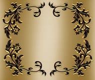 amber ornamentacyjny graniczny czarnego royalty ilustracja