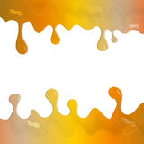 Amber paint dripping text layout. Abstract amber paint dripping text layout for any design workflow Stock Image