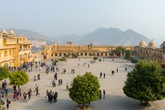 Amber Palace, état de Jaipur, Ràjasthàn, Inde Photos libres de droits