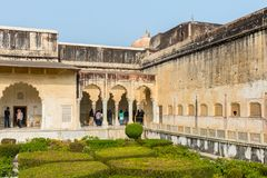 Amber Palace, état de Jaipur, Ràjasthàn, Inde Photographie stock libre de droits