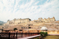 Amber Palace. Amber Fort, ancient castle, Jaipur, India Royalty Free Stock Photo