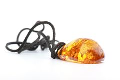 Amber pendant Stock Photography