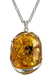 Amber pendant Stock Photo