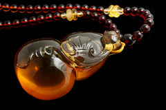 Amber Pendant Gourd Crafts Royalty Free Stock Photos
