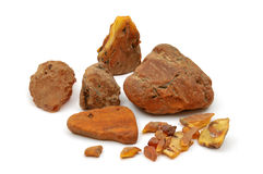 Amber pieces Stock Images