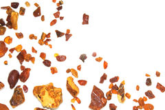 Amber. the pieces of amber in the sand on the beach. Stock Images