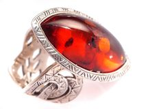 Amber ring Royalty Free Stock Images