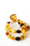 Amber Ring with necklace Stock Photography