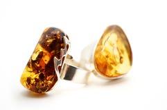 Amber Rings Imágenes de archivo libres de regalías