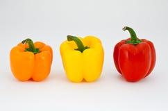 Amber, rode en gele peper Stock Afbeelding