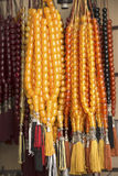 Amber rosaries Stock Photos