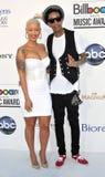 Amber Rose, Whiz Khalifa arrives at the 2012 Billboard Awards. LAS VEGAS - MAY 20:  Amber Rose, Whiz Khalifa arrives at the 2012 Billboard Awards at MGM Garden Stock Photo