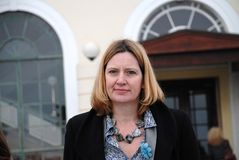 Amber Rudd. Conservative party Member of Parliament for Hastings and Rye, attends a fund raising event on the seafront at Hastings in East Sussex, England on Stock Images