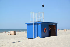 AMBER, RUSSIA. Life-saving station on the city beach Royalty Free Stock Image