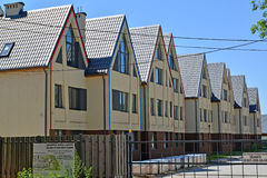 AMBER, RUSSIA. New townhouses in the settlement, the Kaliningrad region Royalty Free Stock Photography
