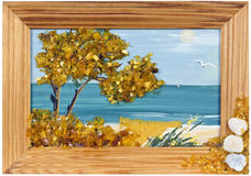 Amber sea landscape Stock Photography