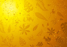 Amber set. Leaves and twigs caught in fossilized amber ideal background royalty free illustration