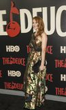 Amber Skye Noyes. Actress Amber Skye Noyes arrives on the red carpet for the New York premiere of HBO`s multi-part drama, `The Deuce.`  The dramatic series Stock Photography