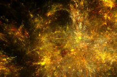 Amber Star Nebula Royalty Free Stock Images