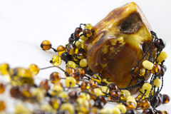 Amber stone Stock Images