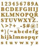 Fashion Amber Stone Alphabet Royalty Free Stock Images