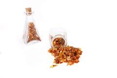 Amber stones. Amber stone on white background stock images