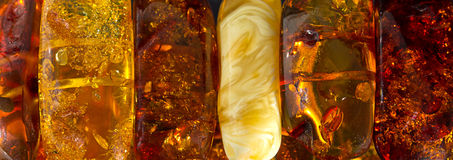 Amber stones Royalty Free Stock Photos