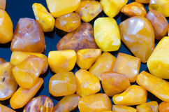 Amber stones Stock Photos