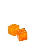 amber tärnar isolerat Fotografering för Bildbyråer