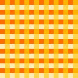 Amber tablecloth Vector. Traditional tablecloth pattern Vector. Amber color square pattern. Vector. Geometrical simple square pattern stock illustration