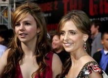 Amber Tamblyn och Sarah Michelle Gellar Arkivfoton