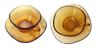 Amber tea cups Royalty Free Stock Image