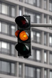 Amber traffic light Royalty Free Stock Image