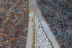Amber and turquoise stones mosaic background Royalty Free Stock Image