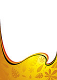 Amber wave. Golden amber wave with leaves caught in the fluid Stock Photos