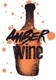 Amber Wine typographical vintage style grunge poster design. Retro vector illustration. royalty free illustration