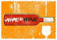 Amber Wine typographical vintage style grunge poster design. Retro vector illustration. vector illustration