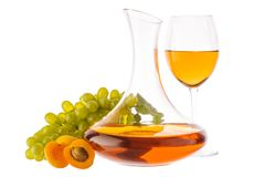 Amber wine. stock images