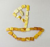 Amberboaton de textieloppervlakte Royalty-vrije Stock Afbeelding