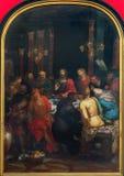 Amberes - última cena de Cristo de Otto van Veen a partir del año 1592 en la catedral de nuestra señora Fotos de archivo