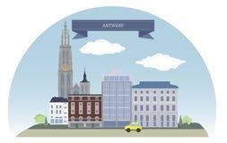 Amberes, Bélgica ilustración del vector
