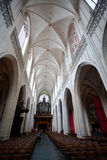 Amberes, Bélgica - 19 de junio de 2011: Interior de la catedral de nuestra señora Fotografía de archivo libre de regalías