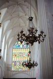 Amberes, Bélgica - 19 de junio de 2011: Interior de la catedral de nuestra señora Imagen de archivo libre de regalías