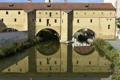 Amberg, gafas de la ciudad Imagen de archivo libre de regalías