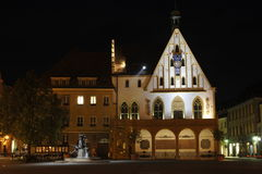 Amberg, old town-hall at night Stock Images