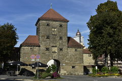 Amberg, Tor de Wingershofer Foto de archivo