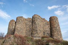 Amberts castle. Ruin on Aragats mountain, Armenia Royalty Free Stock Photography